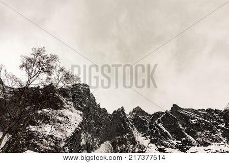 The Troll Wall, Trollveggen, is part of the mountain massif Trolltindene. It is the tallest vertical rock face in Europe,