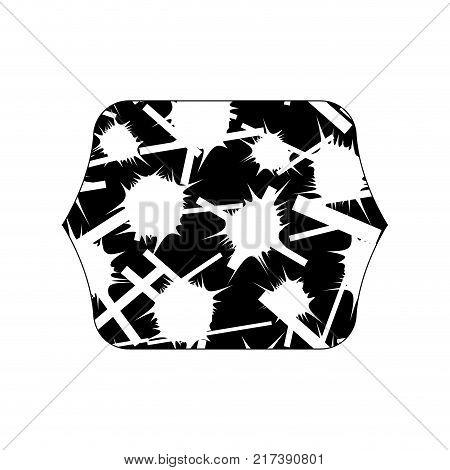 contour line quadrate with abstract memphis design background vector illustration