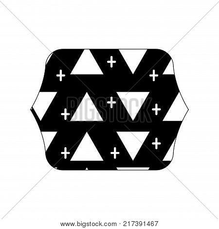 contour line quadrate with memphis style geometric design background vector illustration