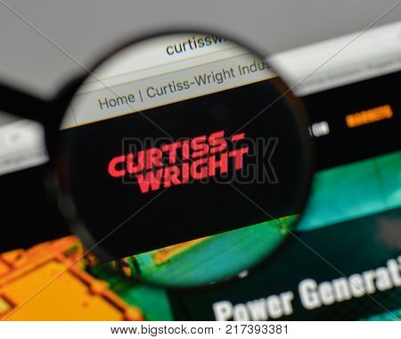 Milan, Italy - August 10, 2017: Curtiss Wright Logo On The Website Homepage.