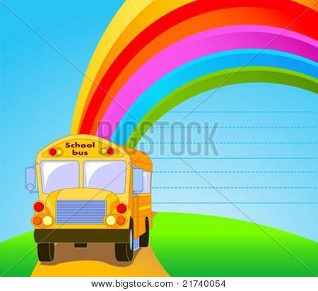 Back to school.  Yellow School Bus background