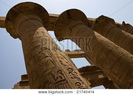 Columns in Karnak temple, Egypt