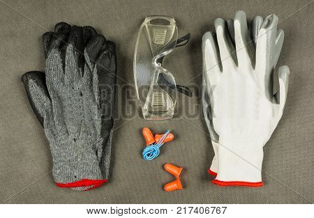 Basic employee equipment for personal protection at the workplace.