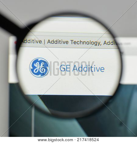Milan, Italy - August 10, 2017: Ge Logo On The Website Homepage.
