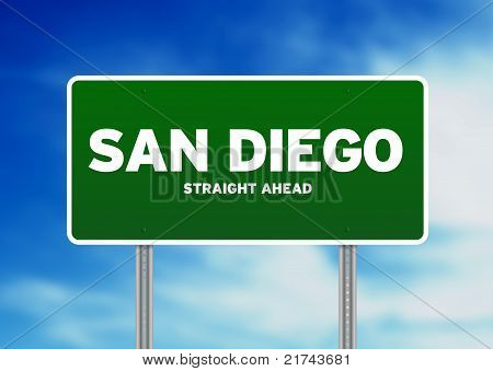 San Diego, California Highway Sign