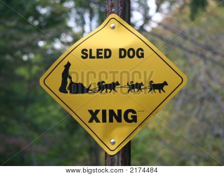 Sled Dog Crossing Sign