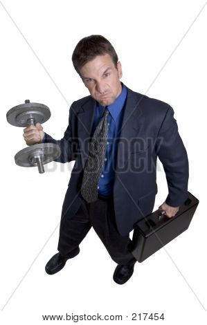 Businessman Working Out