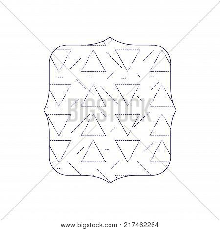 dotted shape quadrate with geometric graphic memphis background vector illustration