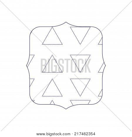dotted shape quadrate with graphic geometric style background vector illustration