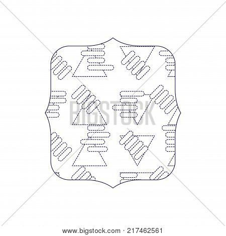 dotted shape quadrate with abstract graphic design background vector illustration