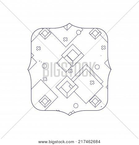 dotted shape quadrate with geometric style graphic background vector illustration