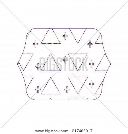 dotty shape quadrate with memphis style geometric design background vector illustration