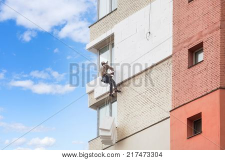 Wall Thermal insulation industrial climbing high-altitude work insulation of walls with foam plastic or Styrofoam