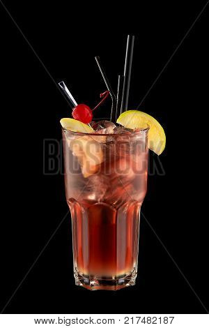 perestroika Cocktail restructuring on a black background