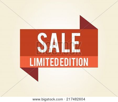 Sale limited edition icon isolated on white background. Vector illustration with red sign with sale clearance with limited line warning