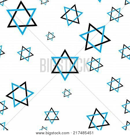 Star of David pattern seamless flat style for web vector illustration