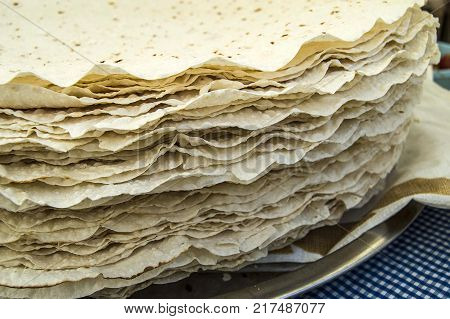 fine dough bread, yufka bread, dry baked dough, turkish yufka bread,world bread types