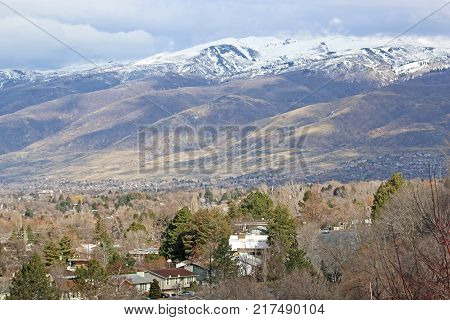 Wasatch Front mountains above North Salt Lake, Utah