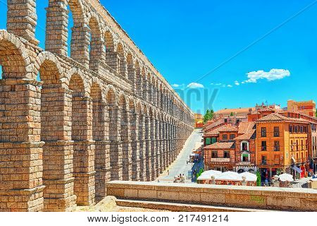 Aqueduct Of Segovia (or More Precisely, The Aqueduct Bridge) Is A Roman Aqueduct In Segovia.