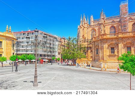 Cathedral Of Saint Mary Of The See (catedral De Santa Maria De La Sede). Seville. Spain.