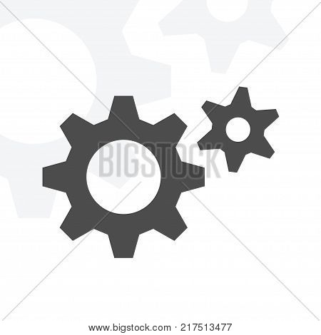 simple gear icon. stock vector illustration for design