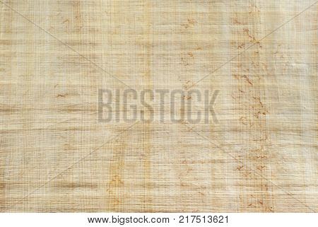 background texture: surface of natural Egyptian papyrus created by authentic technology