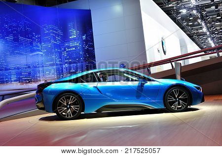 FRANKFURT - SEPTEMBER 21: car shown at the 65th Internationale Automobil Ausstellung (IAA) on September 21 2013 in Frankfurt Germany.