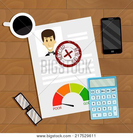 Loan Refusal Concept Business