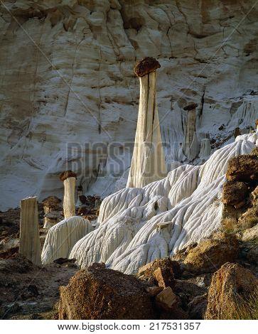 Sandstone Towers of Silence Wahweap Hoodoos in Utah's Grand Staircase Escalante Utah America