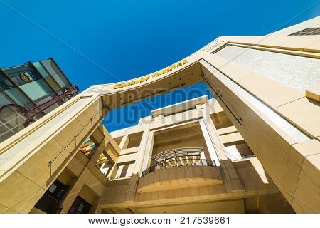 LOS ANGELES CALIFORNIA - NOVEMBER 02 2016: Dolby Theatre in Hollywood boulevard