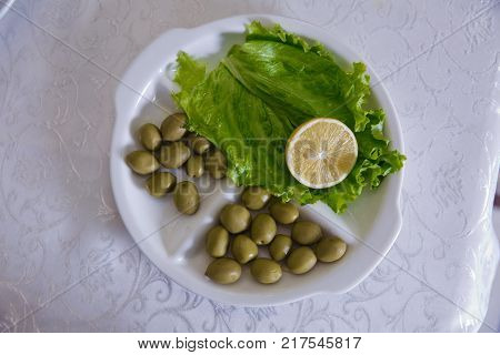 Olive capture . Olive grove. Cheese feta with olives