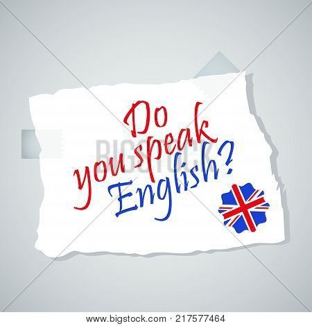 Bright flat vector banners with note for English language learning. Courses of foreign language, schools for studying British pronunciation. Information for site, social network, poster and flyer.