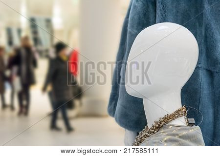 Dummy profile blurred abstract Store , fashion background