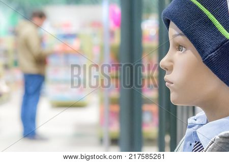 Dummy profile blurred abstract Store . Shopping moll