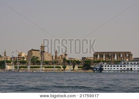 Luxor harbot on Nile river, Egypt