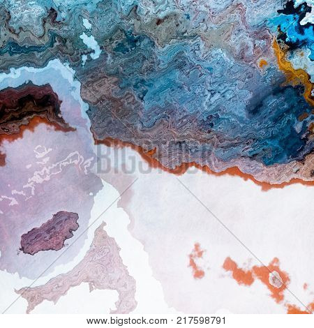 Mineral layers, bastract like blue coffe and milk mixture background illustration