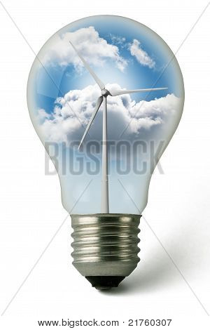 Eolic Green Energy Lightbulb