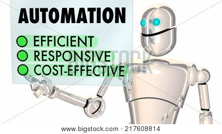 Automation Robot Improve Process Automated System 3d Illustration