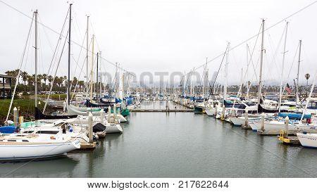 Yachts In Ventura Marina