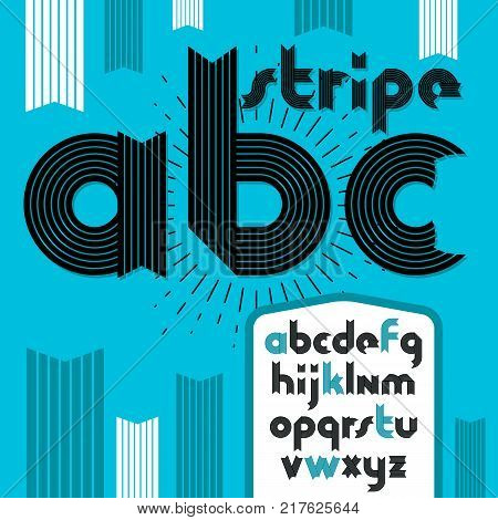 Vector type font script from a to z. Capital decorative letters abc created using chrome chain linkage.