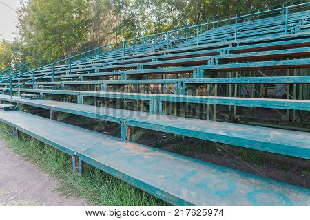 outdoor Football grandstand in football field at thailand