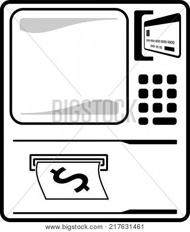 ATM Icon Raster Illustration