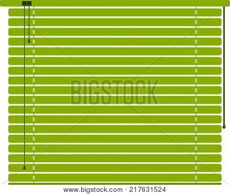 Window Sun Blind Green Raster Illustration