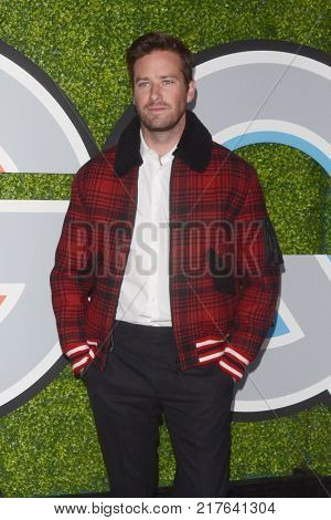 LOS ANGELES - DEC 7:  Armie Hammer_ at the 2017 GQ Men of the Year at the Chateau Marmont on December 7, 2017 in West Hollywood, CA