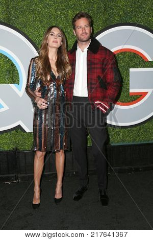 LOS ANGELES - DEC 7:  Elizabeth Chambers, Armie Hammer_ at the 2017 GQ Men of the Year at the Chateau Marmont on December 7, 2017 in West Hollywood, CA