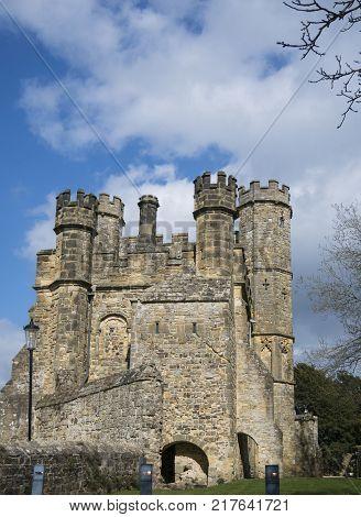 BATTLE ABBEY, BATTLE, EAST SUSSEX, UK, 13TH APRIL 2017 - Battle Abbey built on the site of the Battle of Hastings Battle Sussex UK