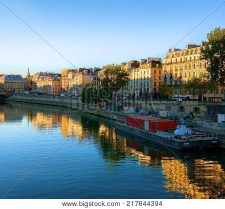 Court of Cassation on Seine in Paris, France