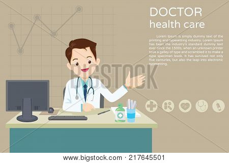 Doctor Sitting At The Table