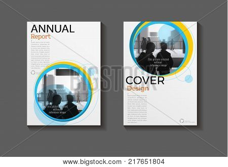 layout yellow and blue abstract background modern cover design modern book cover Brochure cover templateannual report magazine and flyer Vector a4