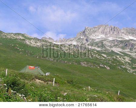 Camping at Col de la Madeleine